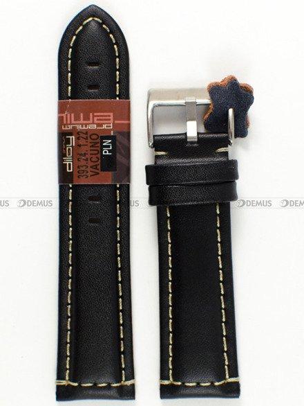 Pasek skórzany do zegarka - Diloy 393.24.1.22 - 24 mm