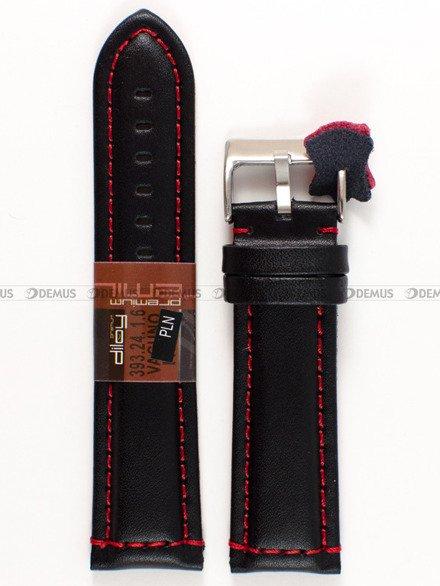 Pasek skórzany do zegarka - Diloy 393.24.1.6 - 24 mm