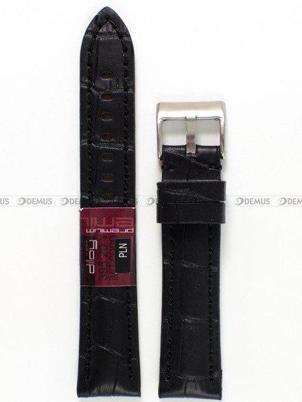 Pasek skórzany do zegarka - Diloy 395.20.1 - 20 mm