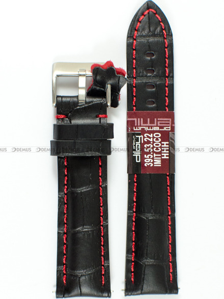 Pasek skórzany do zegarka - Diloy 395.22.1.6 - 22 mm