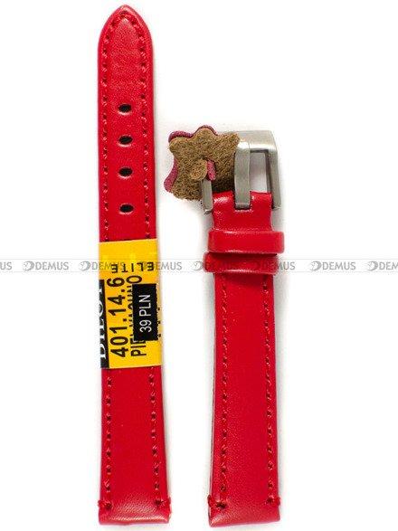 Pasek skórzany do zegarka - Diloy 401.14.6 - 14 mm