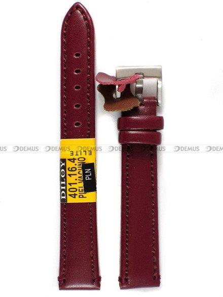 Pasek skórzany do zegarka - Diloy 401.16.4 - 16 mm
