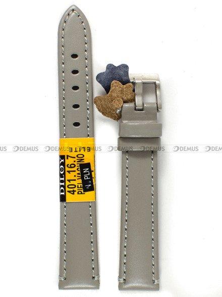 Pasek skórzany do zegarka - Diloy 401.16.7 - 16 mm