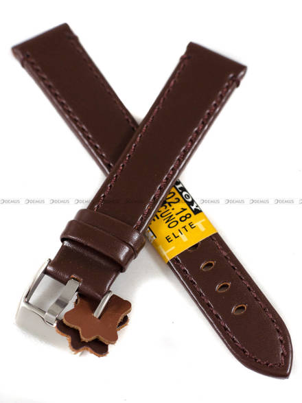 Pasek skórzany do zegarka - Diloy 401.18.2 - 18 mm