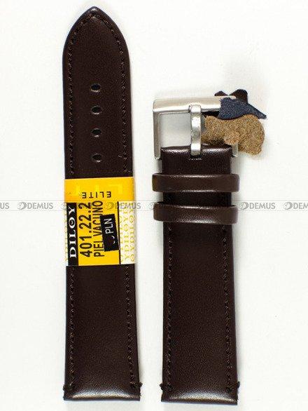 Pasek skórzany do zegarka - Diloy 401.22.2 - 22 mm