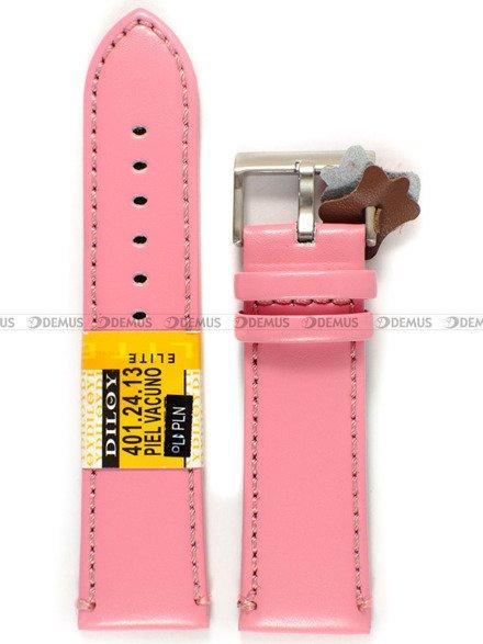 Pasek skórzany do zegarka - Diloy 401.24.13 - 24 mm