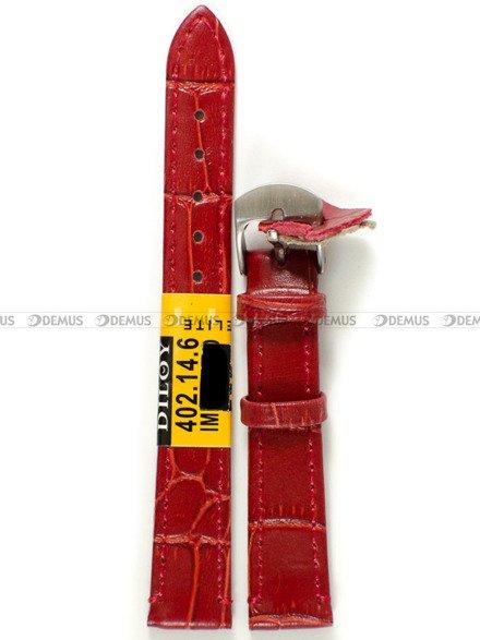 Pasek skórzany do zegarka - Diloy 402.14.6 - 14 mm
