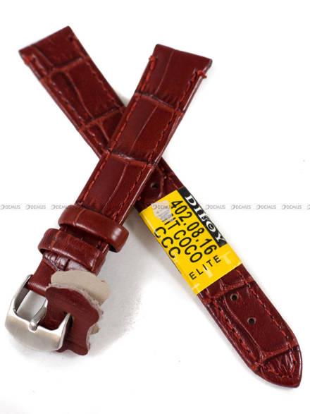 Pasek skórzany do zegarka - Diloy 402.16.8 - 16 mm