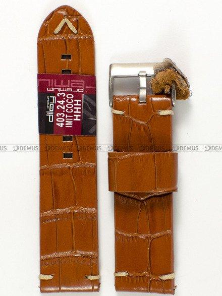 Pasek skórzany do zegarka - Diloy 403.24.3 - 24 mm