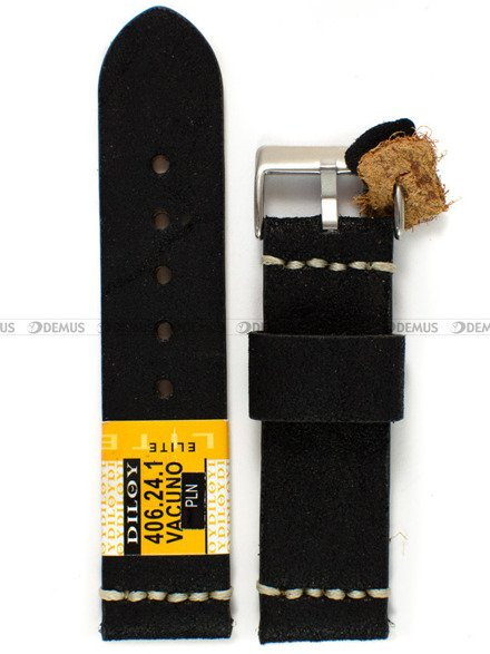 Pasek skórzany do zegarka - Diloy 406.24.1 - 24 mm