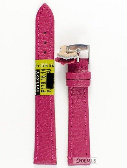 Pasek skórzany do zegarka - Diloy P178.16.14 - 16 mm