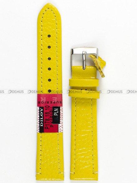 Pasek skórzany do zegarka - Diloy P178.18.10 - 18 mm