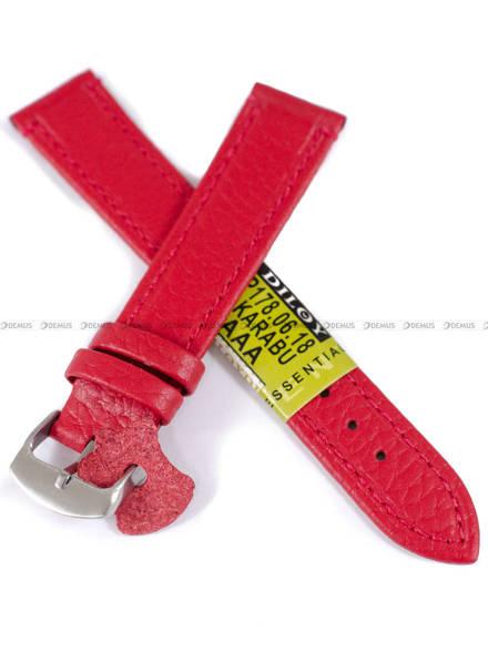 Pasek skórzany do zegarka - Diloy P178.18.6 - 18 mm