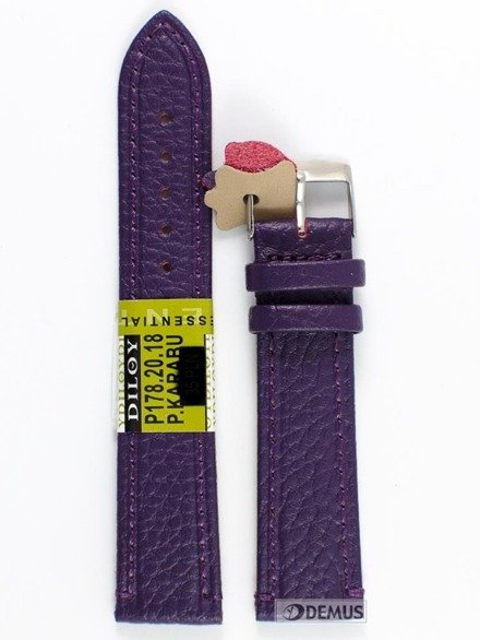 Pasek skórzany do zegarka - Diloy P178.20.18 - 20 mm