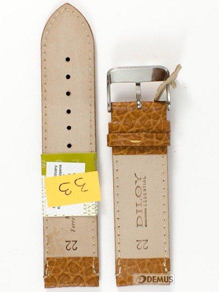 Pasek skórzany do zegarka - Diloy P205.22.10 - 22mm