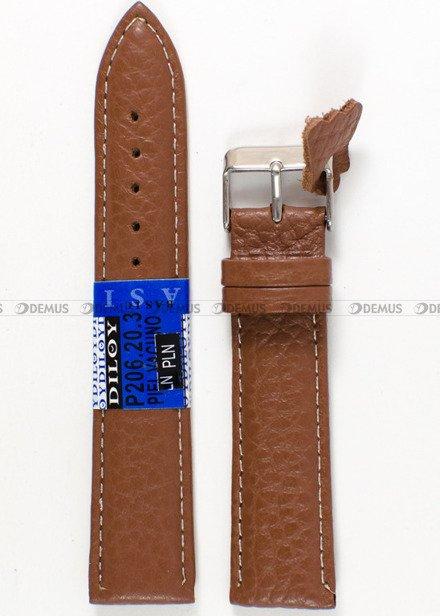 Pasek skórzany do zegarka - Diloy P206.20.3 - 20 mm