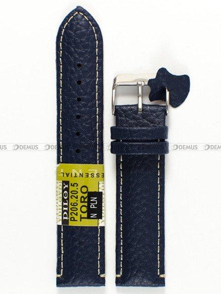 Pasek skórzany do zegarka - Diloy P206.20.5 - 20 mm