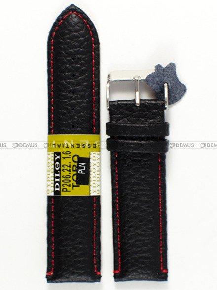 Pasek skórzany do zegarka - Diloy P206.22.1.6 - 22 mm