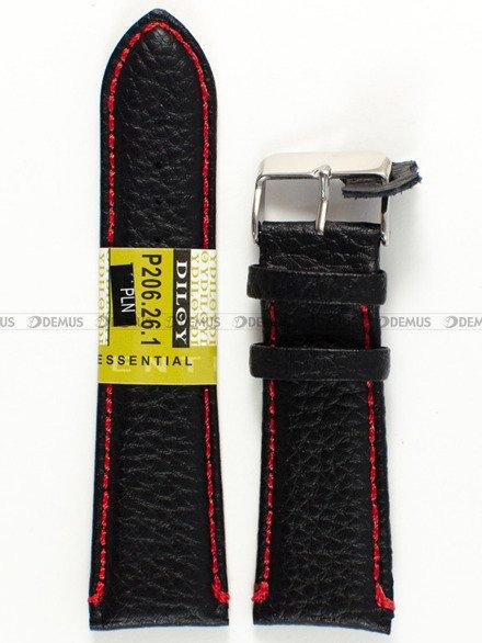Pasek skórzany do zegarka - Diloy P206.26.1.6 - 26 mm
