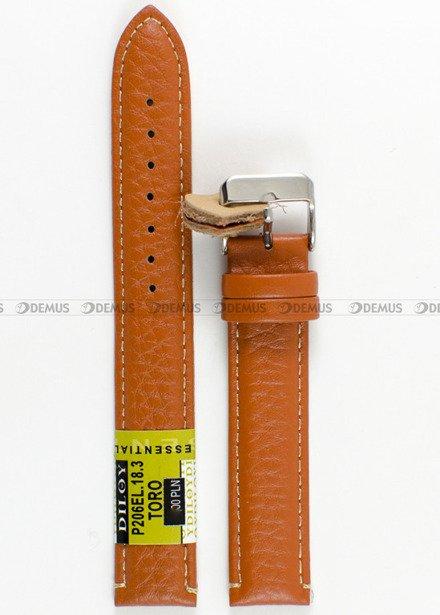 Pasek skórzany do zegarka - Diloy P206EL.18.3 18mm