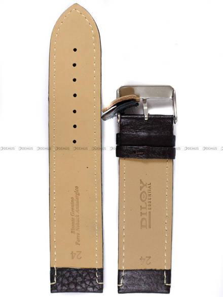 Pasek skórzany do zegarka - Diloy P206EL.24.2 - 24mm