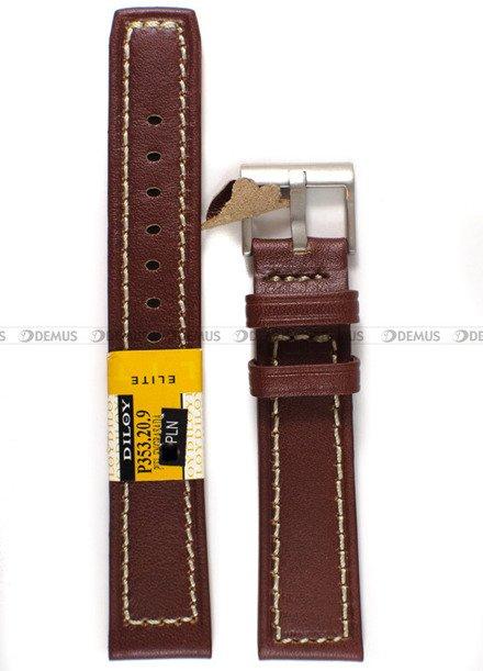 Pasek skórzany do zegarka - Diloy P353.20.9 - 20 mm