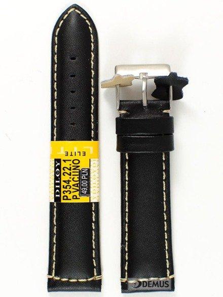 Pasek skórzany do zegarka - Diloy P354.22.1 - 22mm