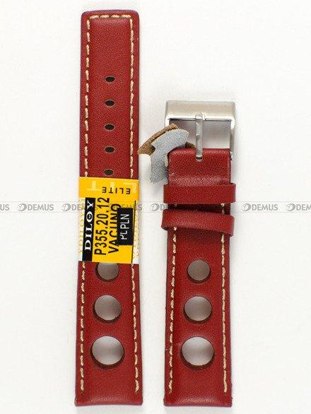 Pasek skórzany do zegarka - Diloy P355.20.12 - 20 mm