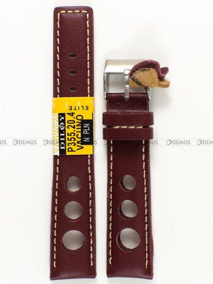 Pasek skórzany do zegarka - Diloy P355.20.4 - 20 mm