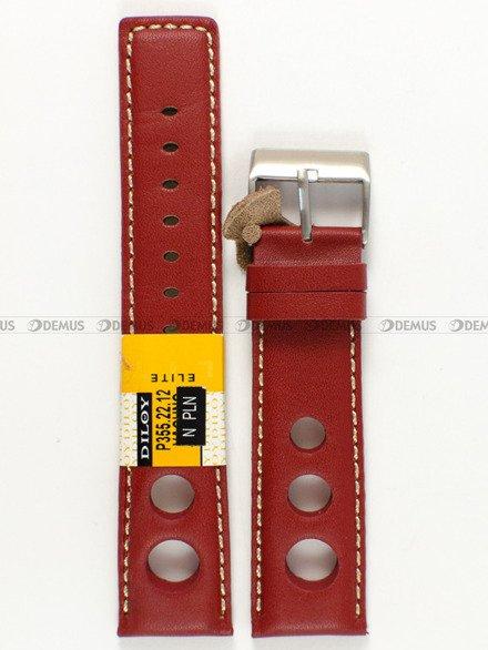 Pasek skórzany do zegarka - Diloy P355.22.12 - 22 mm