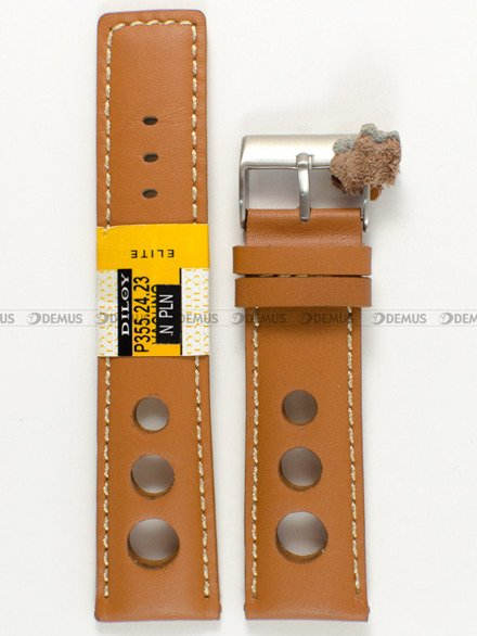 Pasek skórzany do zegarka - Diloy P355.24.23 - 24 mm
