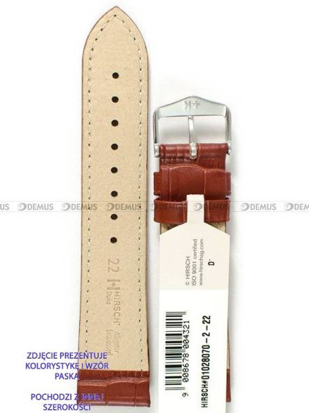 Pasek skórzany do zegarka - Hirsch Duke 01028070-2-24 - 24 mm - L