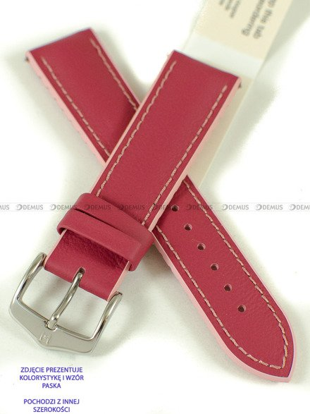Pasek skórzany do zegarka - Hirsch Lindsey 0922202125-2-18 - 18 mm