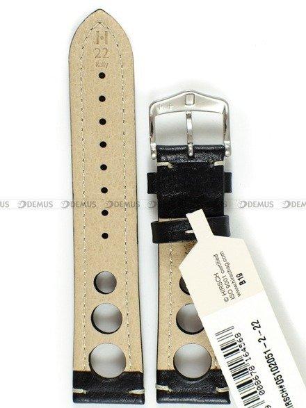 Pasek skórzany do zegarka - Hirsch Rally 05102051-2-22 - 22 mm