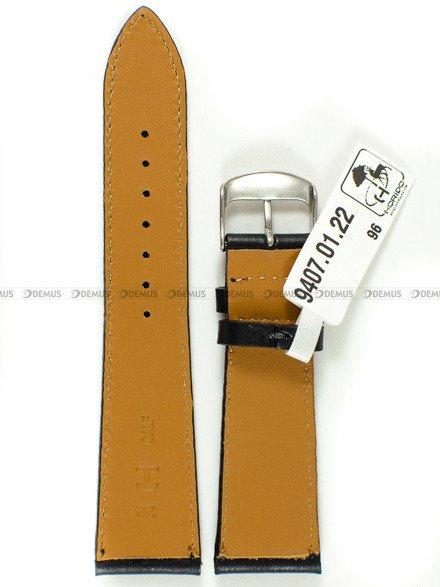 Pasek skórzany do zegarka - Horido 9407.01.22S - 22 mm - Zwężany