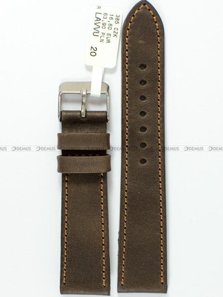 Pasek skórzany do zegarka - LAVVU LSAUC20 - 20 mm