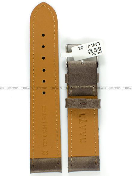 Pasek skórzany do zegarka - LAVVU LSAUC22 - 22 mm