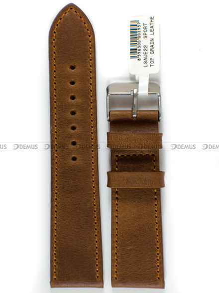 Pasek skórzany do zegarka - LAVVU LSAUE22 - 22 mm