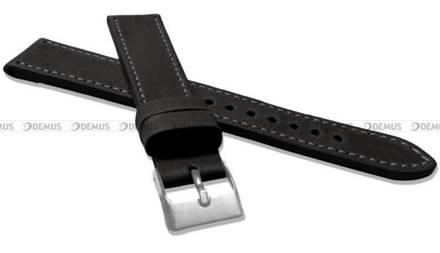 Pasek skórzany do zegarka - LAVVU LSAXB18 - 18 mm - XXL