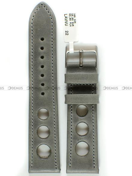 Pasek skórzany do zegarka - LAVVU LSMUA22 - 22 mm