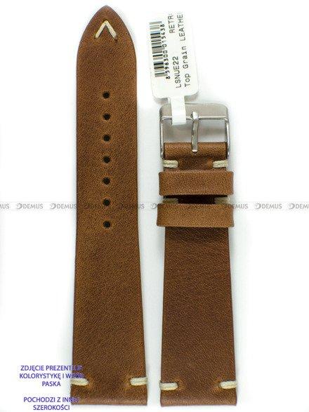 Pasek skórzany do zegarka - LAVVU LSNUE24 - 24 mm