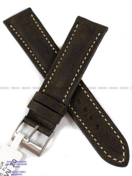 Pasek skórzany do zegarka - LAVVU LSRUG24 - 24 mm