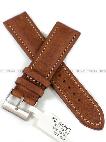 Pasek skórzany do zegarka - LAVVU LSRUH22 - 22 mm