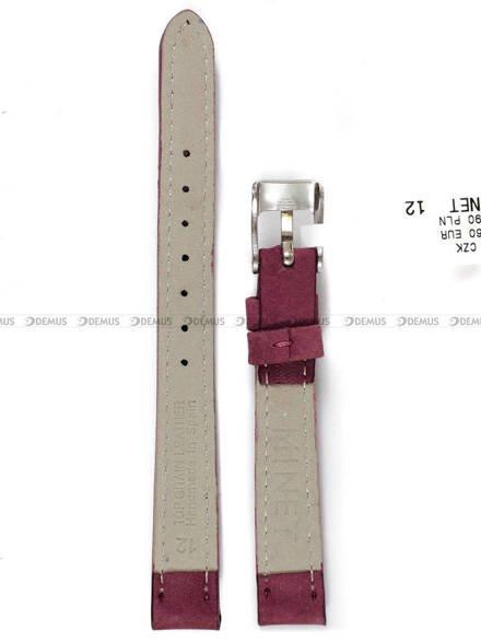 Pasek skórzany do zegarka - Minet MSNUB12 - 12 mm