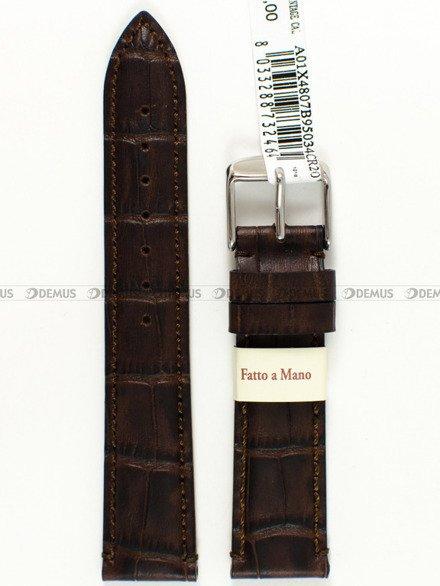 Pasek skórzany do zegarka - Morellato A01X4807B95034 - 20 mm