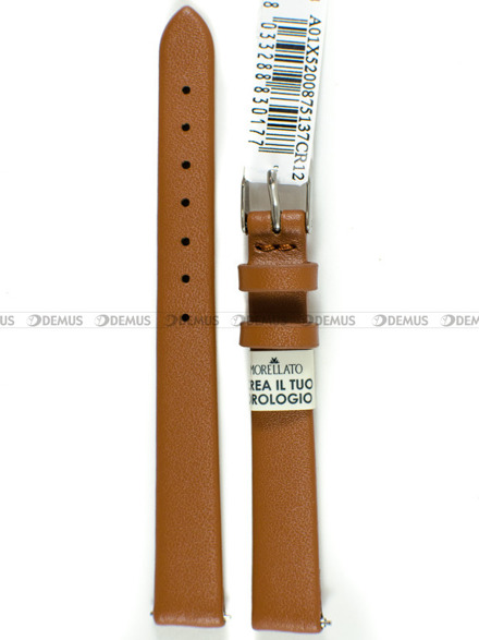 Pasek skórzany do zegarka - Morellato A01X5200875137CR12 - 12 mm
