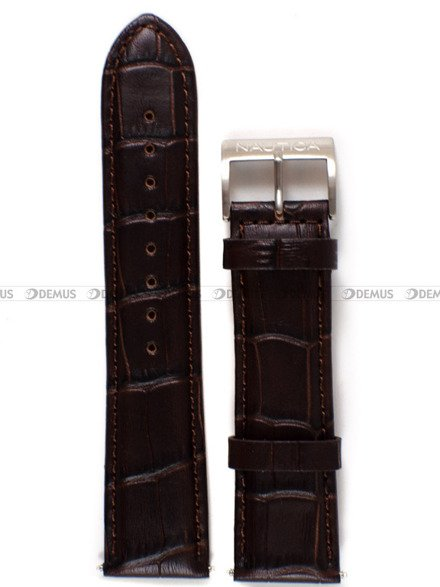 Pasek skórzany do zegarka Nautica A14582G - 22 mm