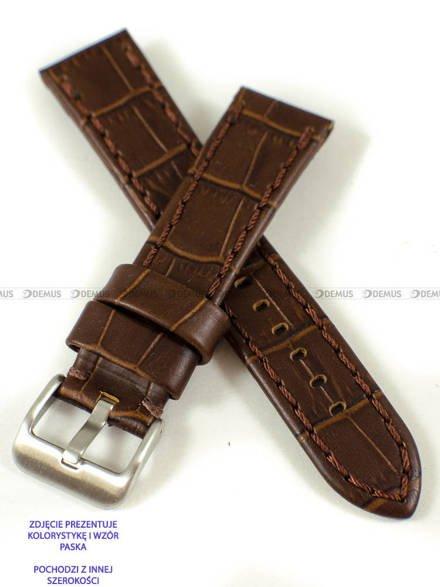 Pasek skórzany do zegarka - Pacific W49.22.2.2 - 22 mm
