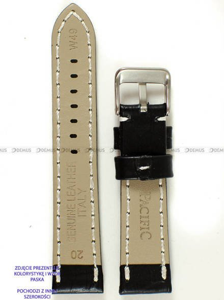 Pasek skórzany do zegarka - Pacific W49.24.1.7v2 - 24 mm
