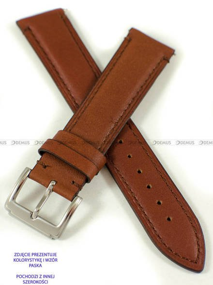 Pasek skórzany do zegarka - Pacific W89.22.3.3 - 22 mm